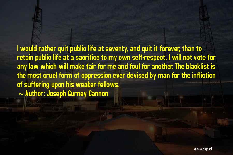 Law Is Not Fair Quotes By Joseph Gurney Cannon