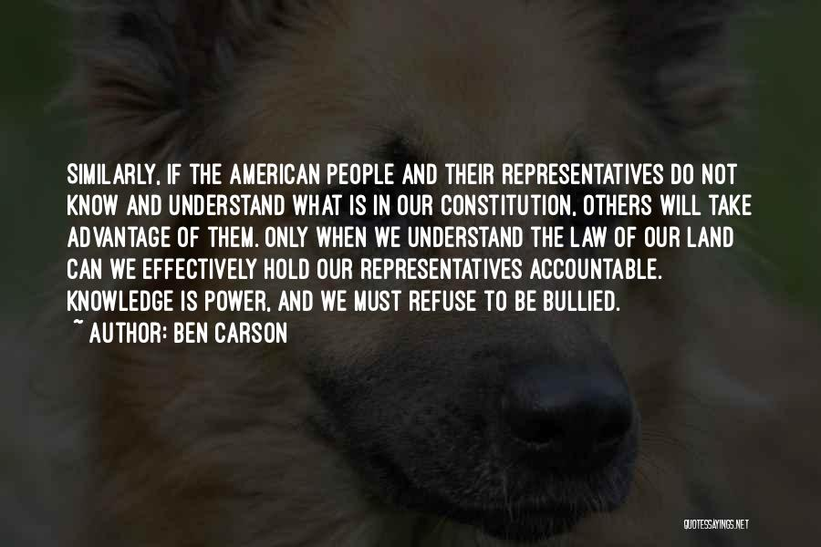 Law Of Power Quotes By Ben Carson