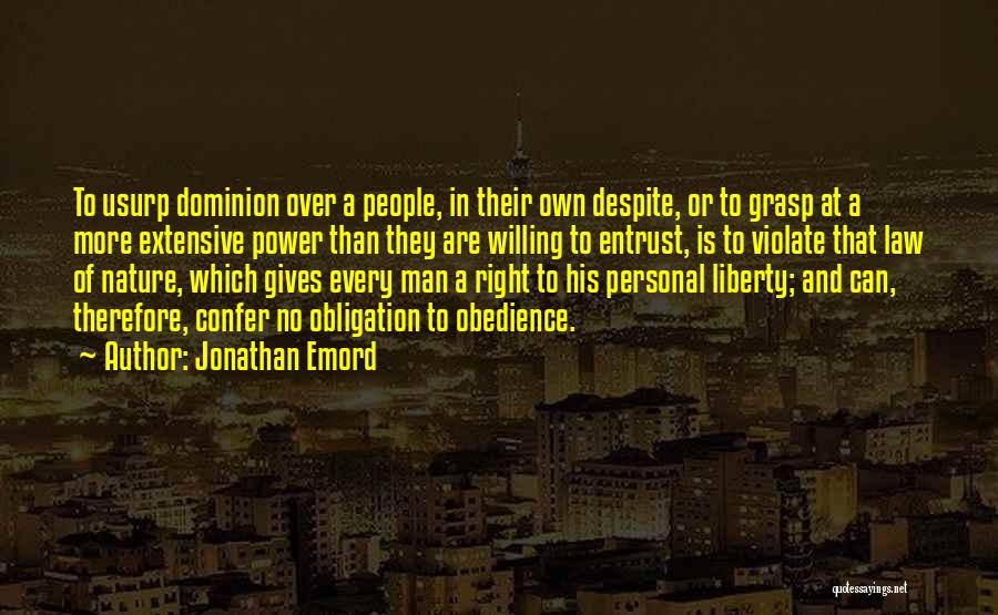 Law Of Power Quotes By Jonathan Emord