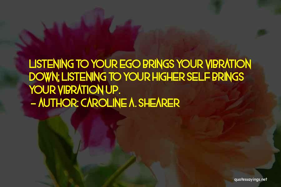 Law Of Vibration Quotes By Caroline A. Shearer