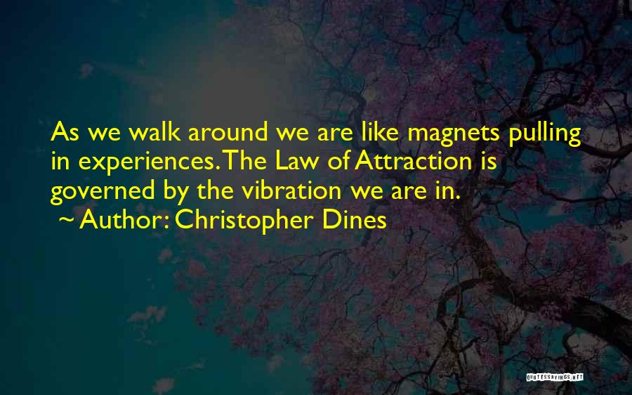 Law Of Vibration Quotes By Christopher Dines