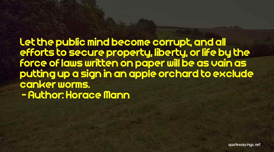 Laws Of Life Quotes By Horace Mann