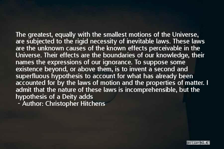 Laws Of Motion Quotes By Christopher Hitchens