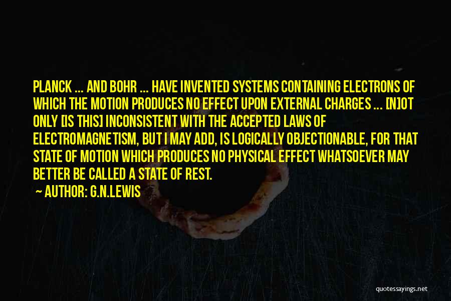 Laws Of Motion Quotes By G.N.Lewis