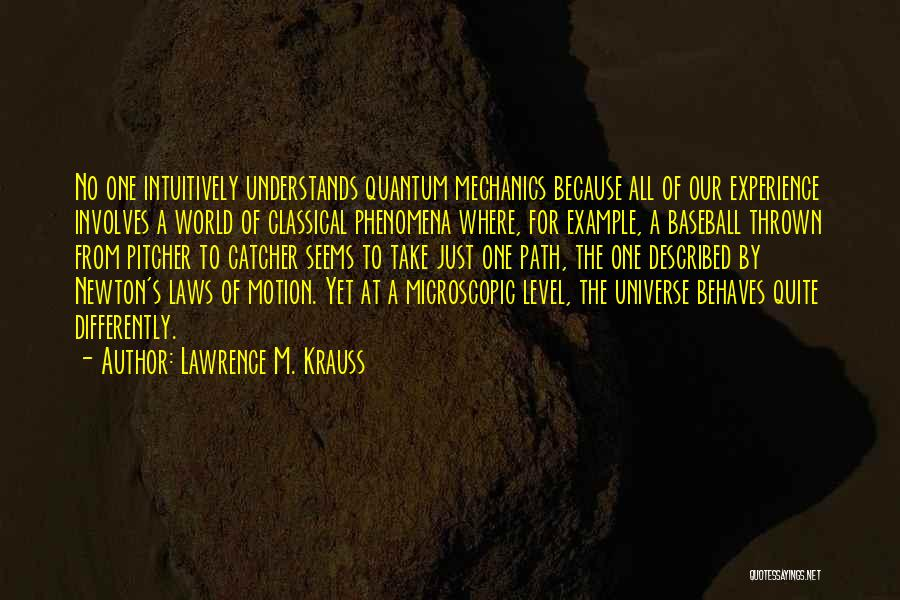 Laws Of Motion Quotes By Lawrence M. Krauss