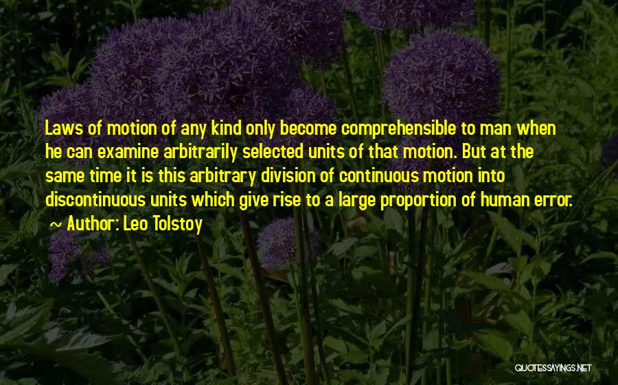 Laws Of Motion Quotes By Leo Tolstoy
