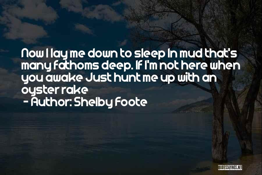 Lay Down With Me Quotes By Shelby Foote
