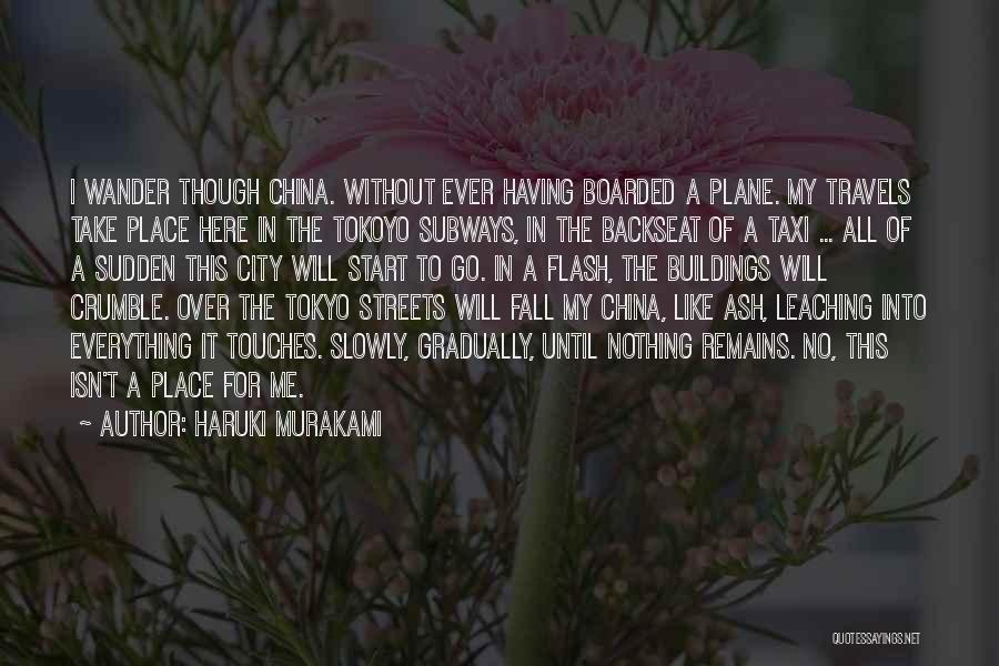 Leaching Quotes By Haruki Murakami