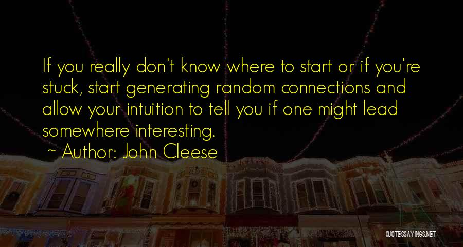 Lead Generating Quotes By John Cleese
