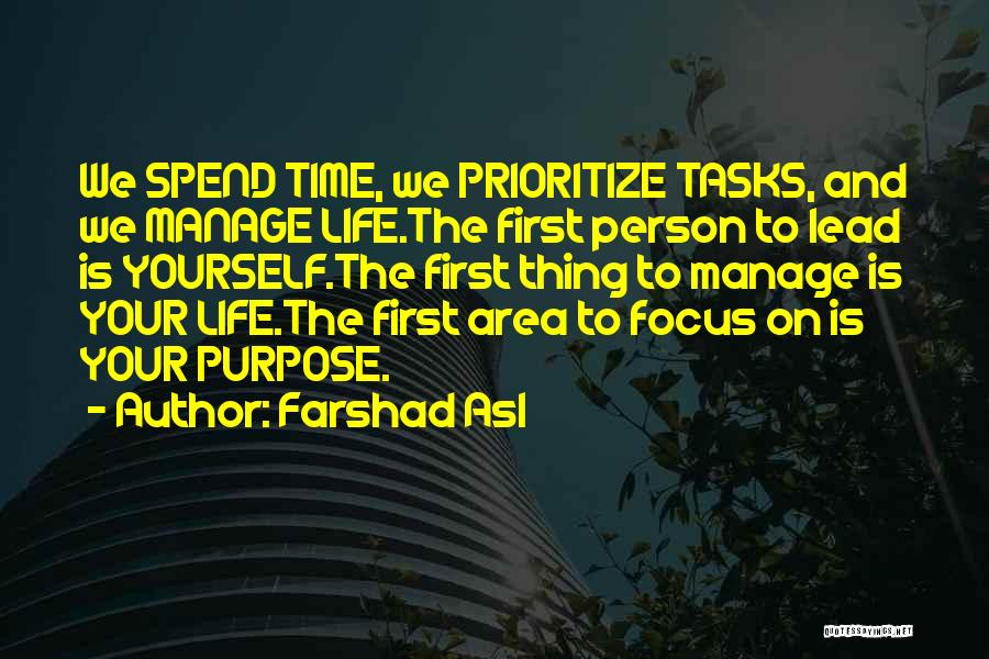 Lead Yourself First Quotes By Farshad Asl