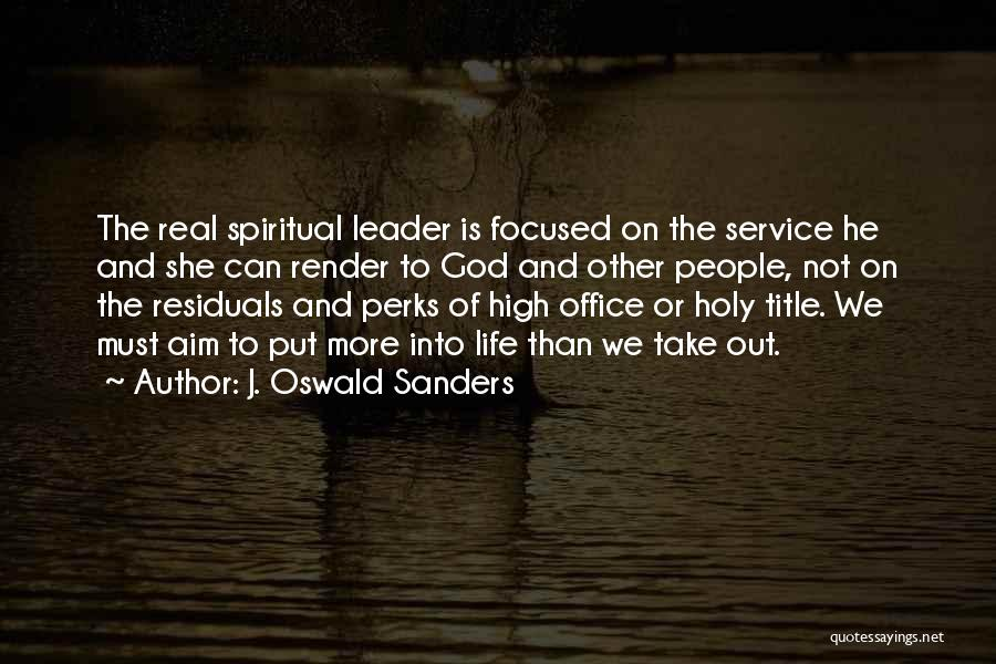 Leader Without Title Quotes By J. Oswald Sanders
