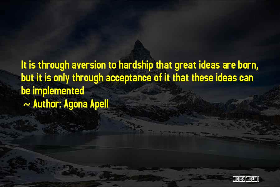 Leadership Versus Management Quotes By Agona Apell