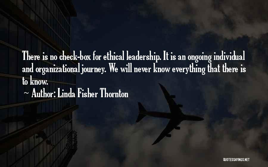 Leadership Versus Management Quotes By Linda Fisher Thornton