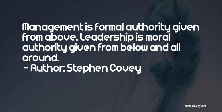 Leadership Versus Management Quotes By Stephen Covey