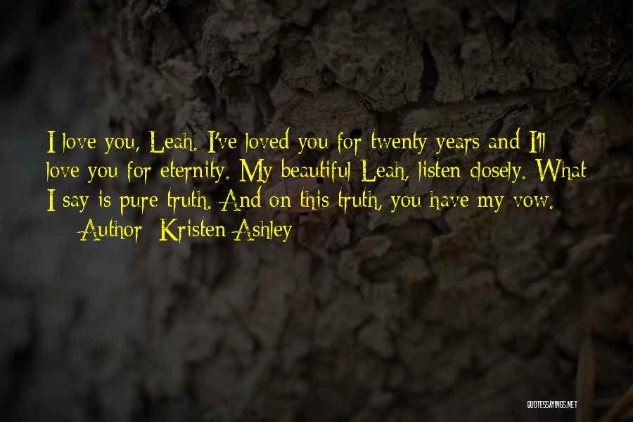 Leah Quotes By Kristen Ashley