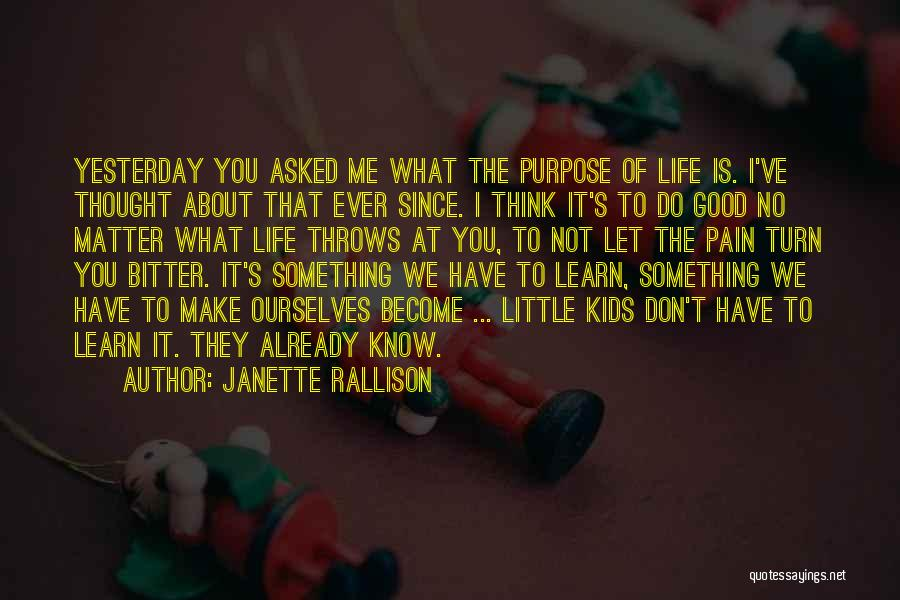Learn From Yesterday Quotes By Janette Rallison