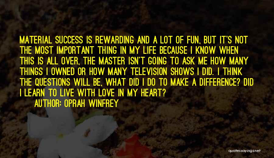 Learn Love Live Life Quotes By Oprah Winfrey