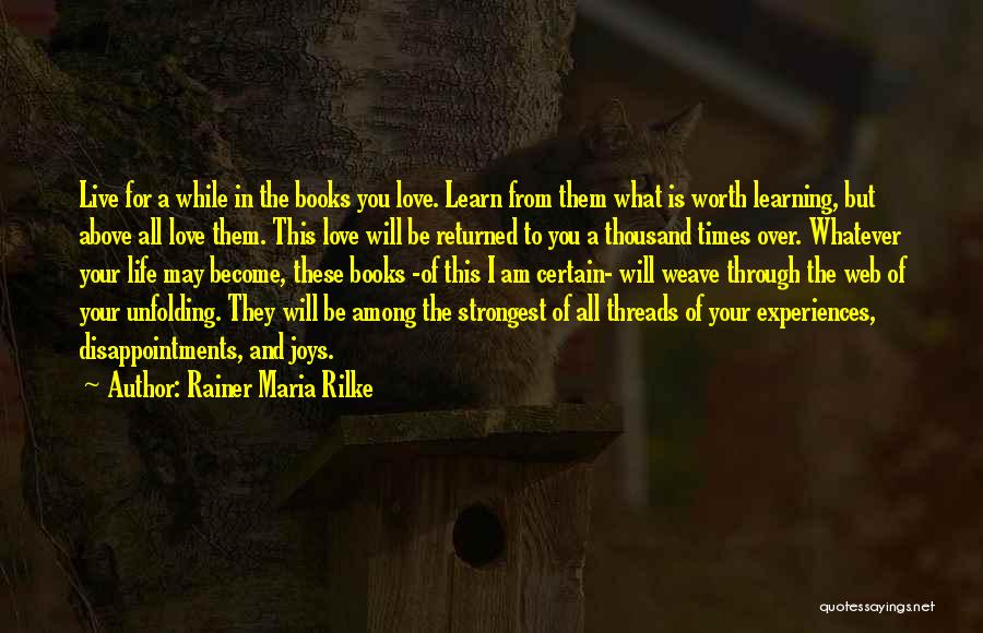 Learn Love Live Life Quotes By Rainer Maria Rilke