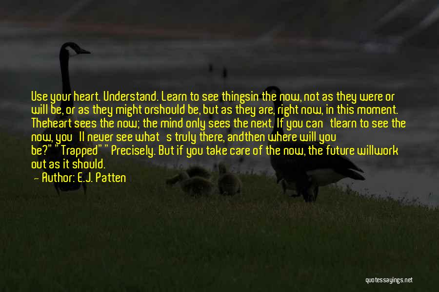 Learn To Care Less Quotes By E.J. Patten