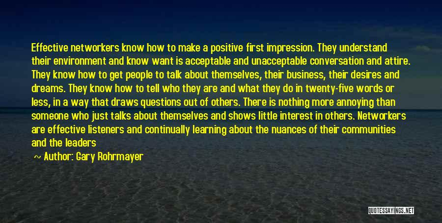 Learning Communities Quotes By Gary Rohrmayer