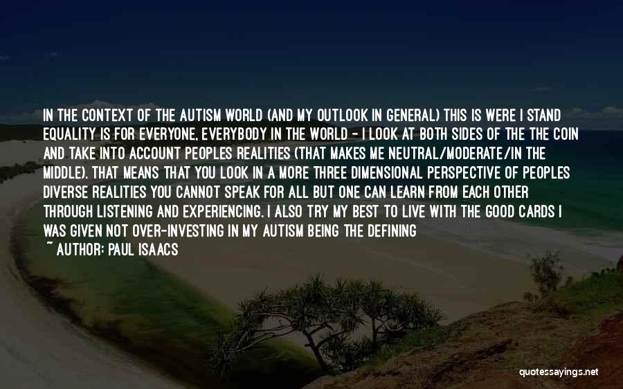 Learning Disability Quotes By Paul Isaacs