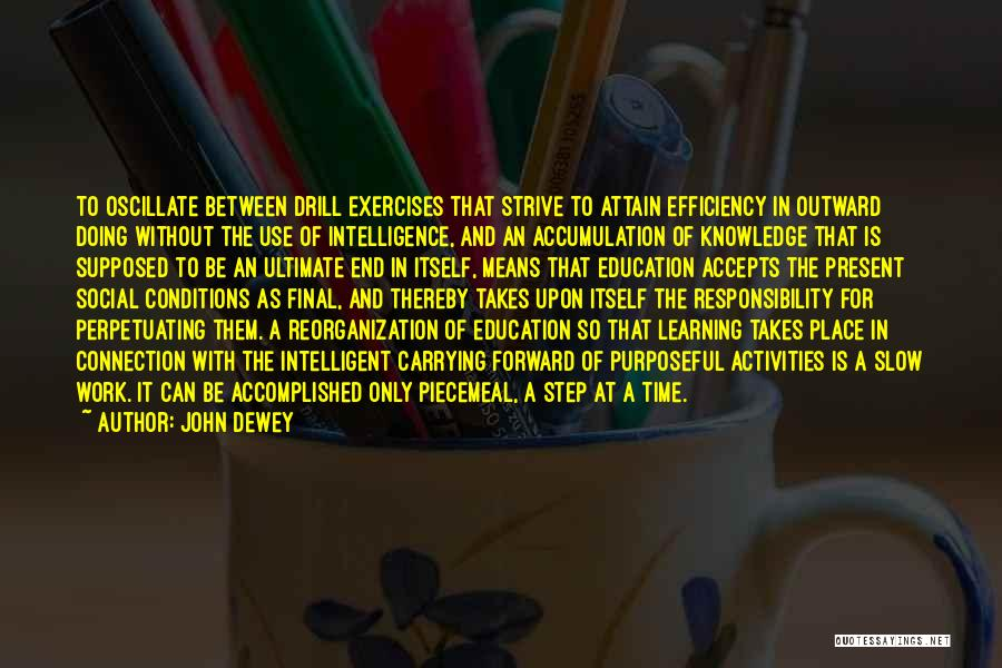 Learning Efficiency Quotes By John Dewey