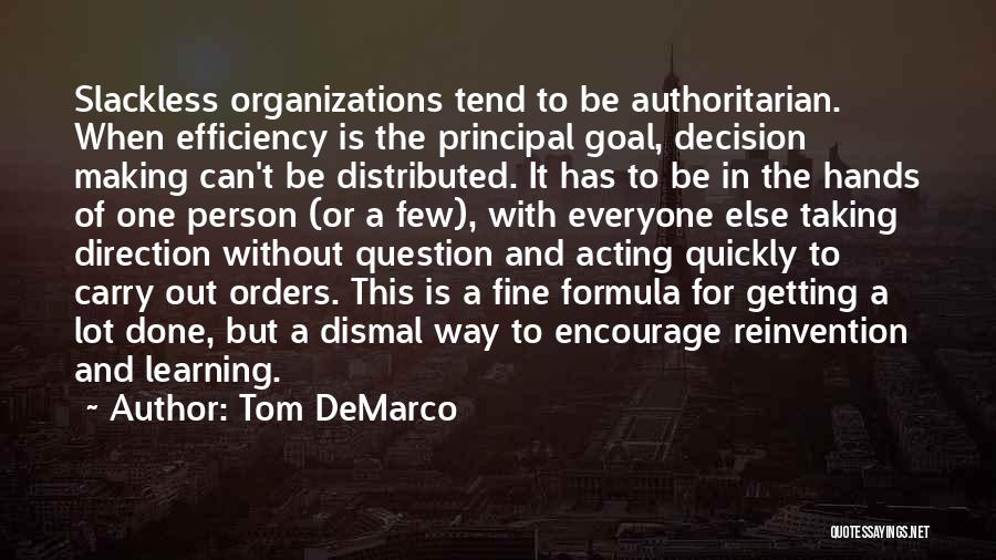 Learning Efficiency Quotes By Tom DeMarco