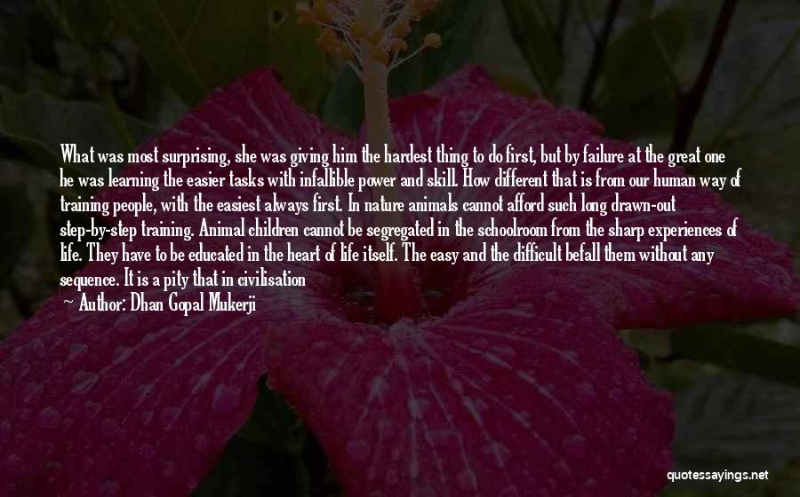 Learning From Experiences Quotes By Dhan Gopal Mukerji