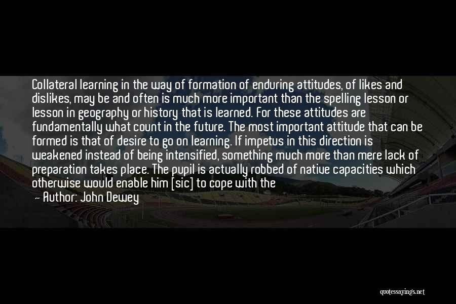 Learning From Experiences Quotes By John Dewey