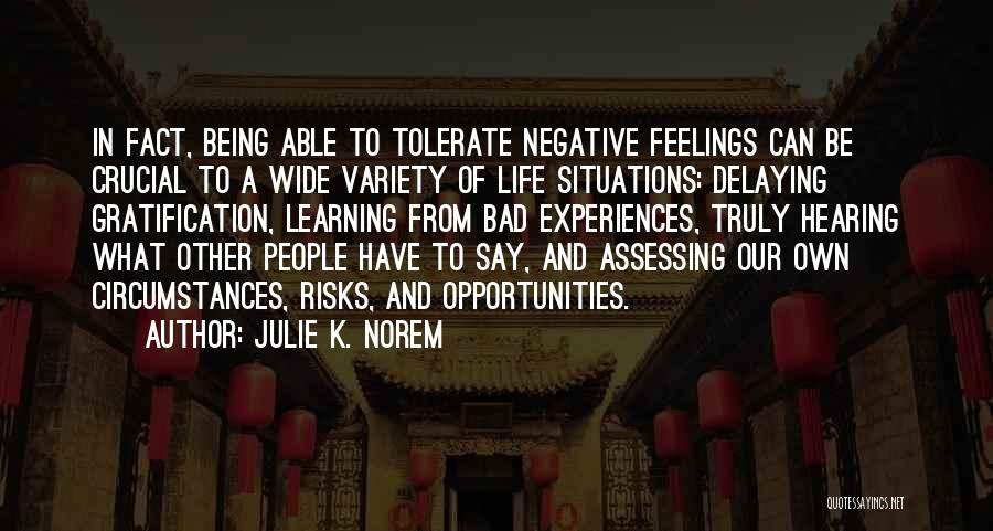 Learning From Experiences Quotes By Julie K. Norem