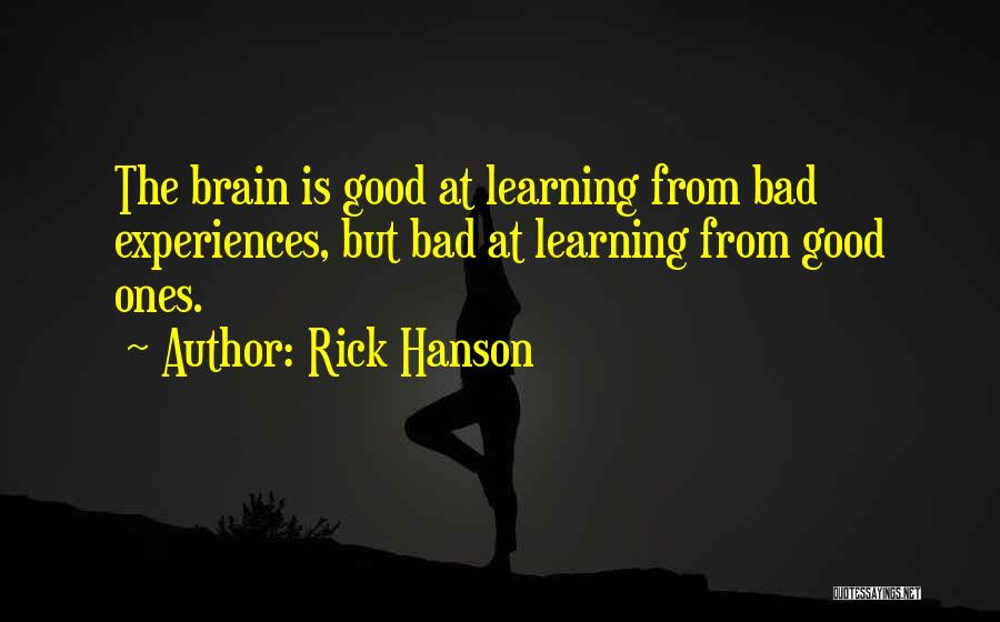 Learning From Experiences Quotes By Rick Hanson