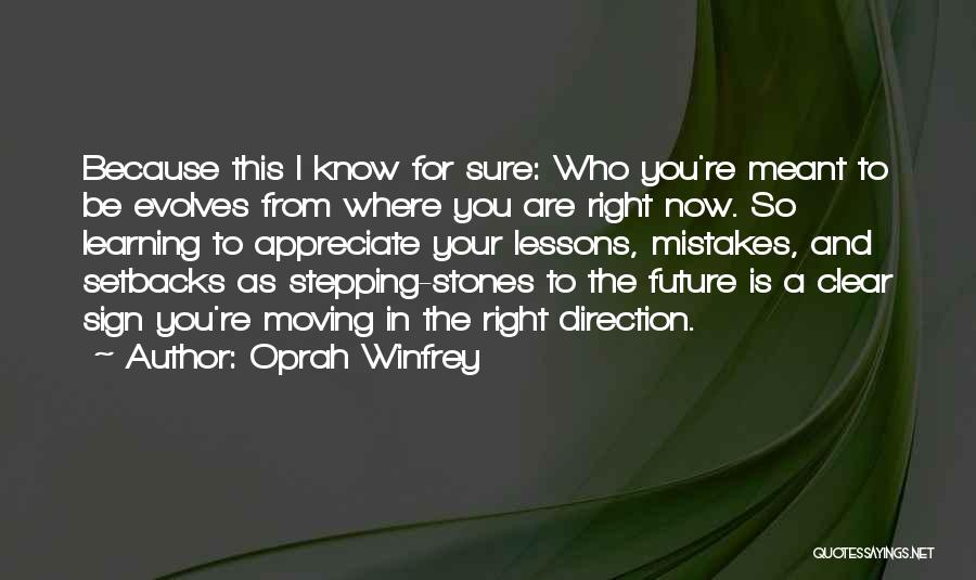 Learning From Your Mistakes And Moving On Quotes By Oprah Winfrey