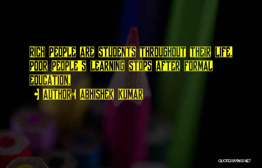 Learning From Your Students Quotes By Abhishek Kumar