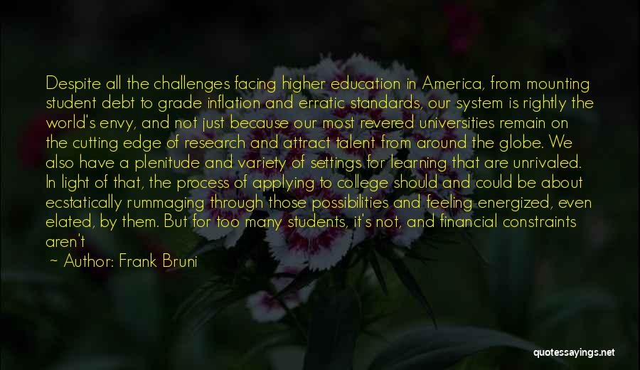 Learning From Your Students Quotes By Frank Bruni