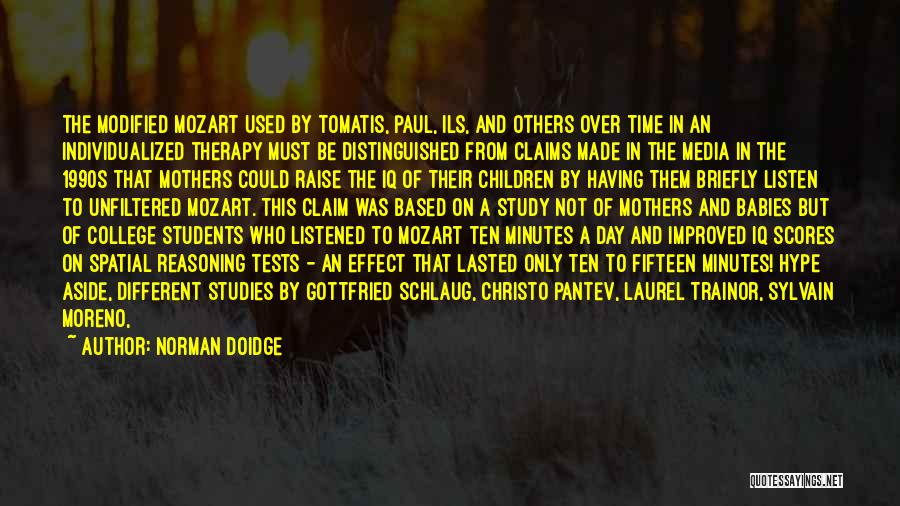 Learning From Your Students Quotes By Norman Doidge