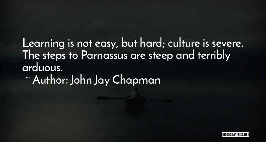 Learning Is Not Easy Quotes By John Jay Chapman