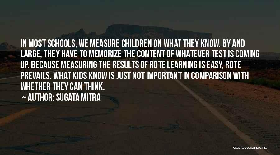Learning Is Not Easy Quotes By Sugata Mitra