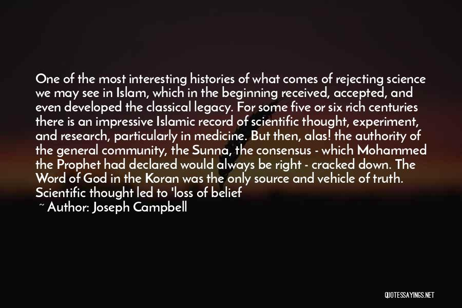 Learning Islam Quotes By Joseph Campbell