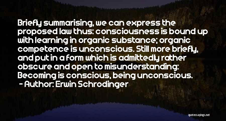 Learning Law Quotes By Erwin Schrodinger