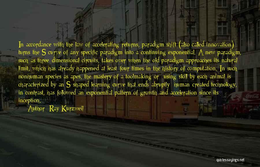 Learning Law Quotes By Ray Kurzweil