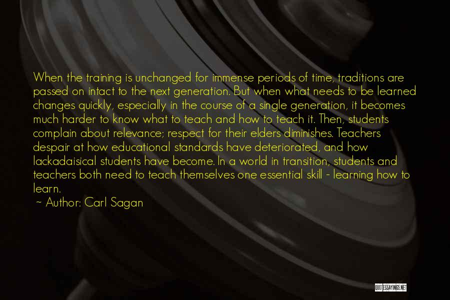 Learning Quickly Quotes By Carl Sagan