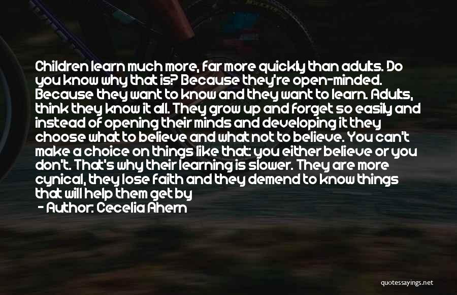 Learning Quickly Quotes By Cecelia Ahern