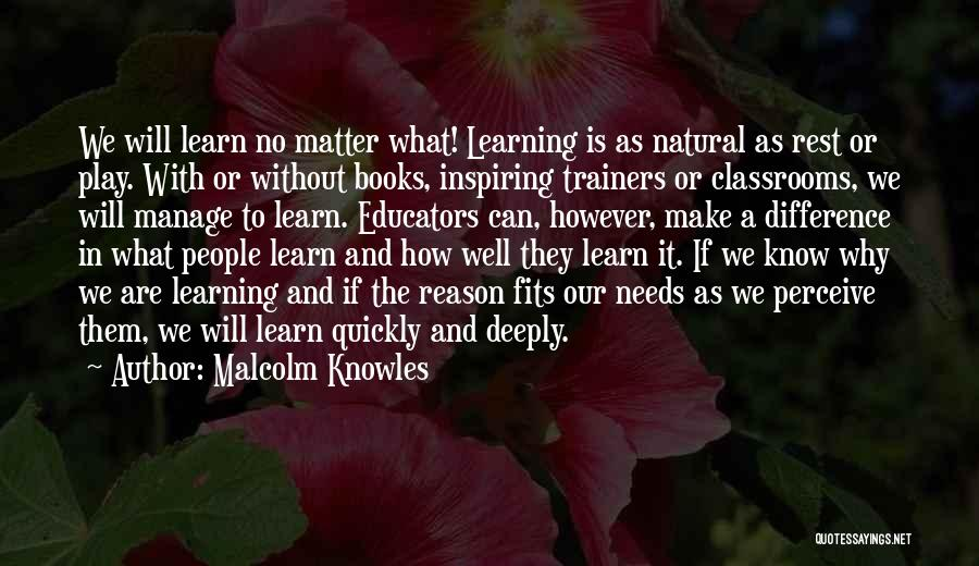 Learning Quickly Quotes By Malcolm Knowles