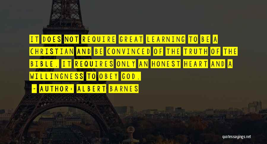 Learning The Bible Quotes By Albert Barnes