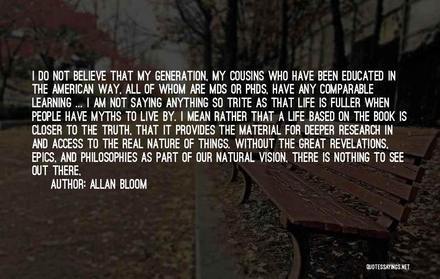 Learning The Bible Quotes By Allan Bloom