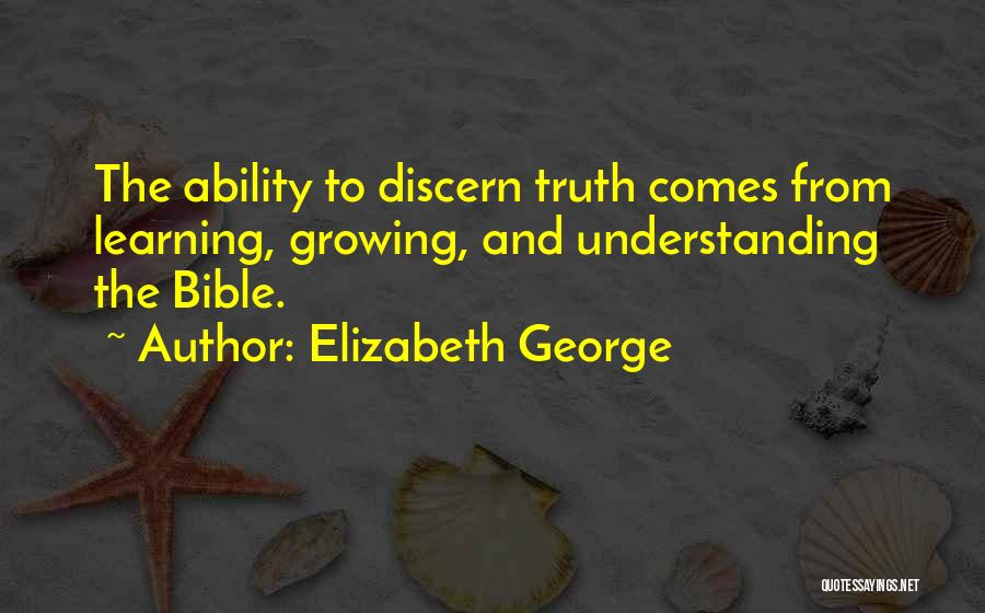 Learning The Bible Quotes By Elizabeth George