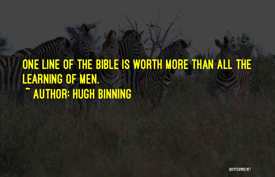 Learning The Bible Quotes By Hugh Binning