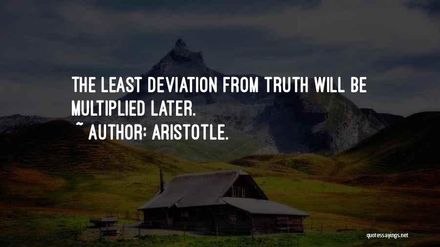 Least Quotes By Aristotle.