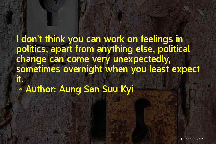 Least Quotes By Aung San Suu Kyi