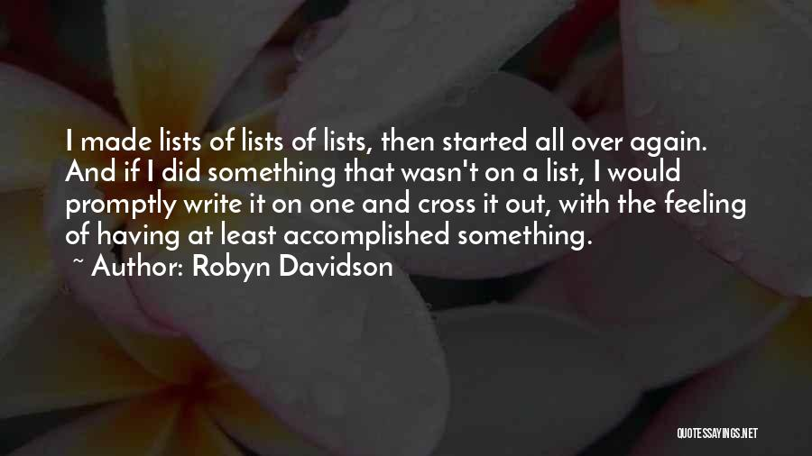 Least Quotes By Robyn Davidson